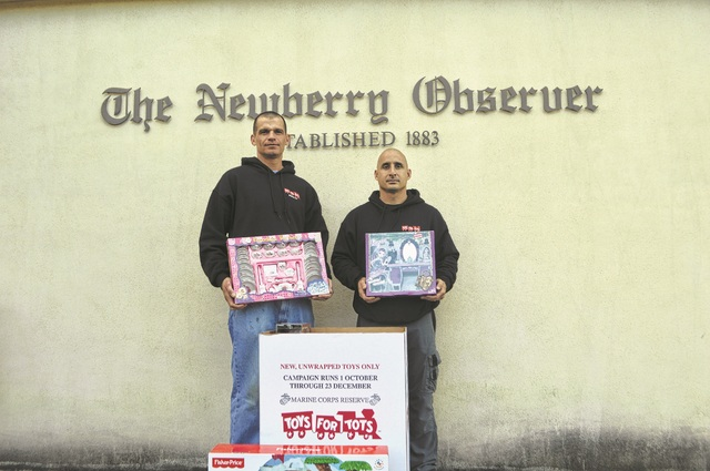 Toys For Tots Pickup : Newberry observer toys for tots pick up