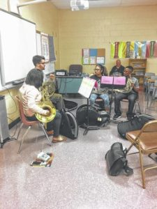 Lesson Night at NMS helping band program