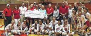 Newberry volleyball awarded check from fundraiser